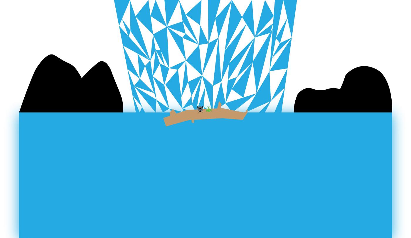 Conor Green waterfall artwork