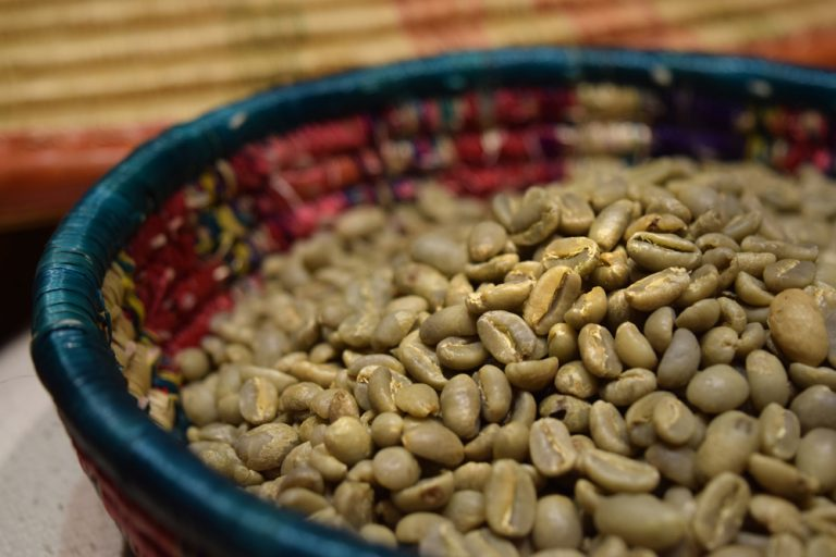 raw Ethiopian coffee beans - photographed by Conor Green
