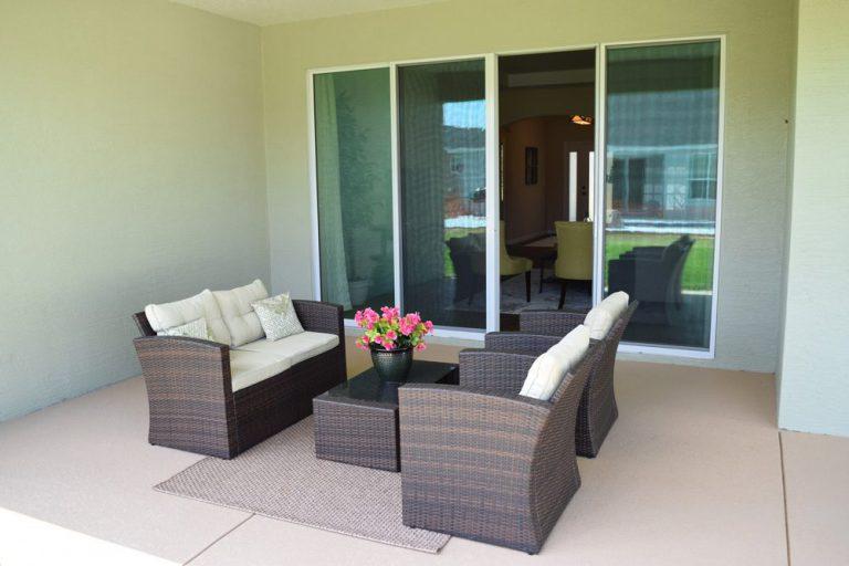 back patio Triple Crown Homes