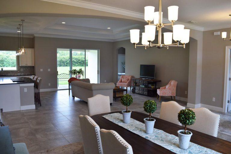 dinner table in freedom Triple Crown Homes