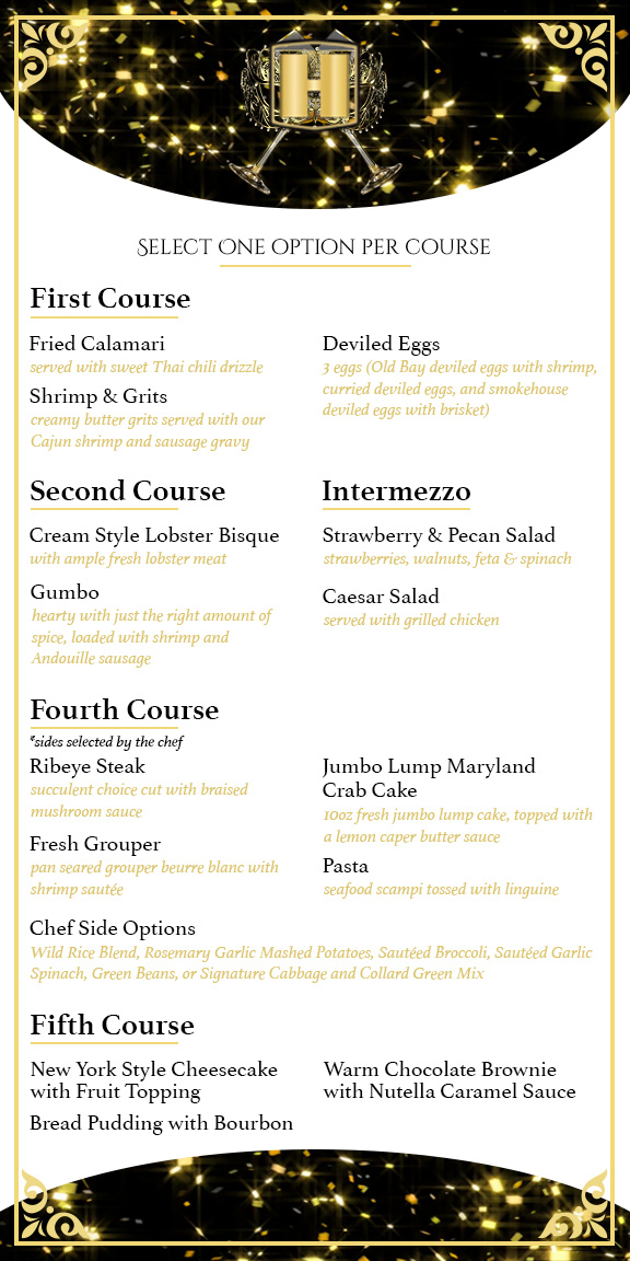 Hallback's NYE Menu by Conor J. Green
